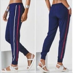 Fabletics Valerie Navy Blue Striped Joggers